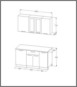 Кухонный_гарнитур_1500_мдф_чертеж_размеры