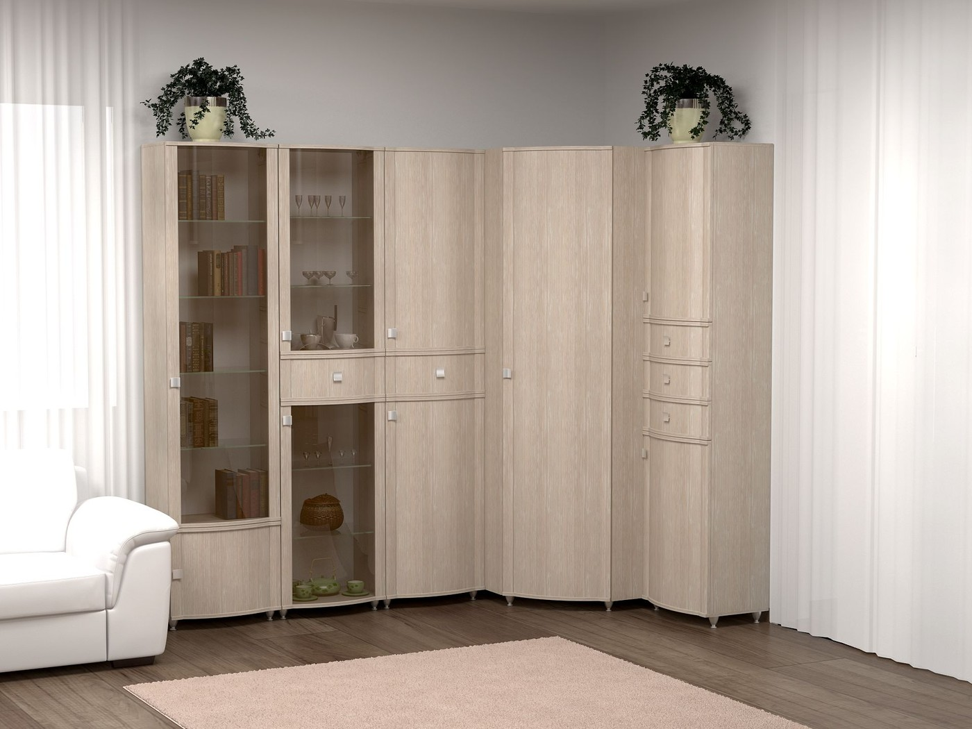 Мебель Для Гостиной Беленый Дуб В Москве