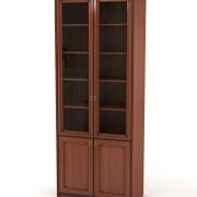 Шкаф-витрина-сервант-с_деревянными_полками_цвет_яблоня_гостиная_Венеция