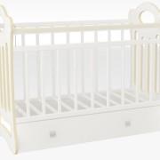 Кроватка_для_новорожденных_Женечка_цвет_белый