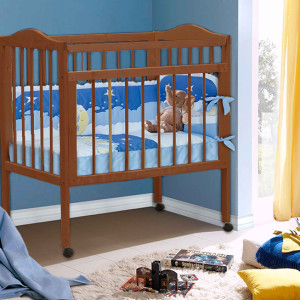 Кроватка_для_новорожденных_цвет_Орех_фант