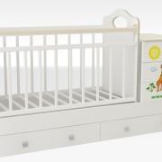 Кроватка_трансформер_маруся_кровать_для_новорожденных_недорого_рисунок_жираф